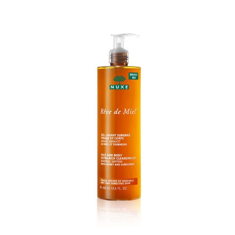 NUXE Rêve de Miel Face and Body Ultra-Rich Cleansing Gel (400ml)