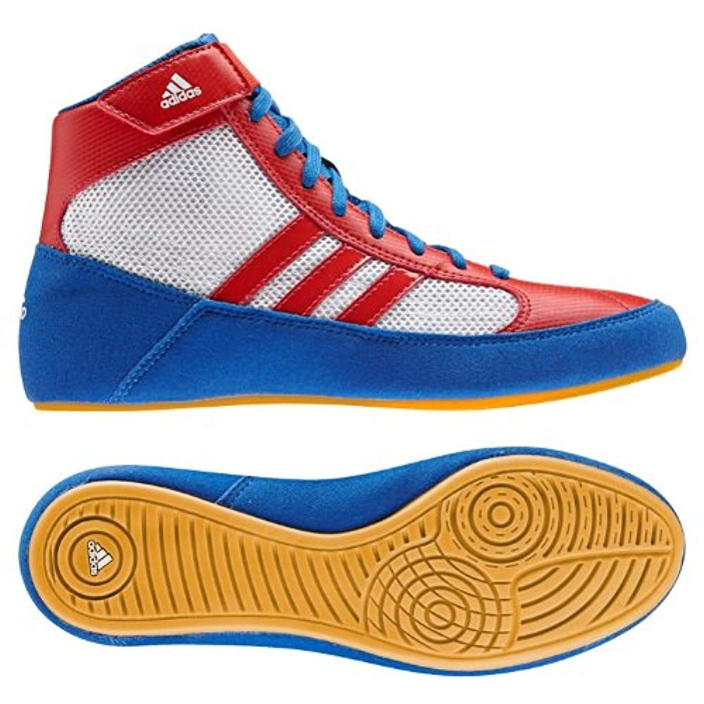 adidas HVC WRESTLING SHOES (S77937) ROYAL/RED/WHITE [병행수입품]