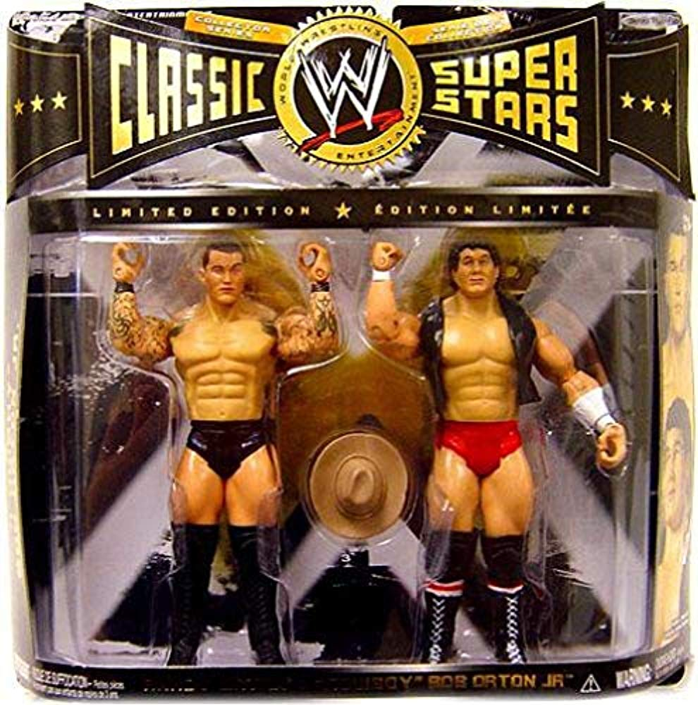 WWE Wrestling Classic Superstars Action Figure 2-Pack Randy Orton & Cowboy Bob Orton Jr.